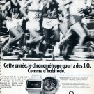 1976 Omega Speedsonic f300 Watch Advert Swiss Print Ad Olympics Omega Watches Company Publicite