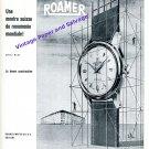 1957 Roamer Watch Company Soleure Switzerland Vintage 1950s Swiss Print Ad