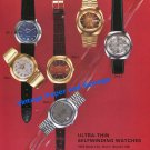 1976 Rodania Watch Company Basel Fair Switzerland 1970s Swiss Print Ad Advert
