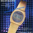 1976 Cristalonic Solar-Quartz Watch Advert Swiss Print Ad Publicite Cristalonic Time Computer GmbH