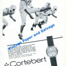 1965 Cortebert Watch Company The Last Ounce of Strength to Win Swiss Print Ad