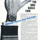 1965 Basel Heuer-Leonidas Rolex Omega Patek Philippe Vulcain Swiss Watch Fair