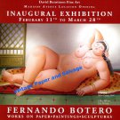 Fernando Botero 2010 Art Exhibition Ad Advert Odalisca Advertisement
