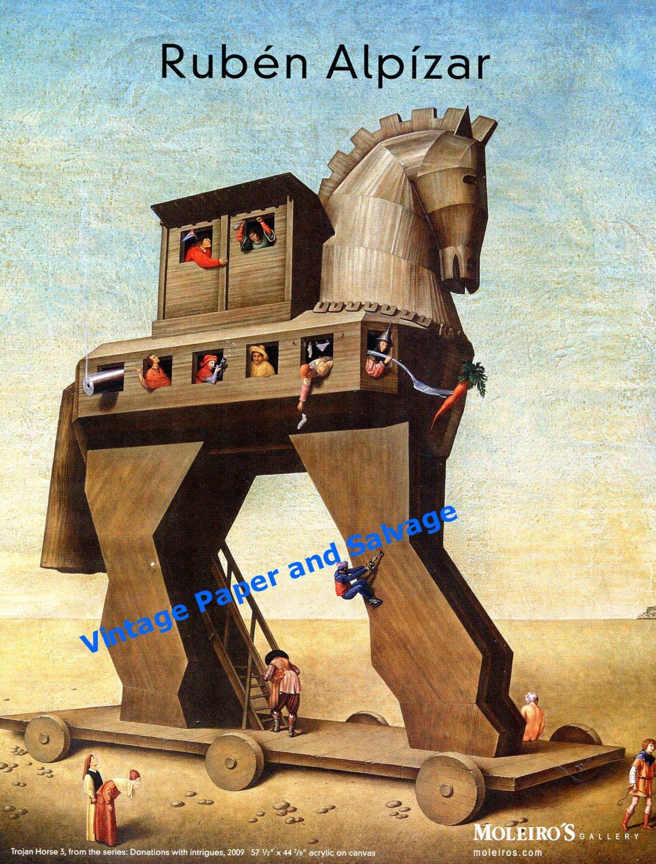 Ruben Alpizar Trojan Horse 3 2010 Art Ad Advert Advertisement