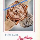 Vintage 1945 Breitling Duograph Watch Advert 1940s Swiss Print Ad Breitling Watch Company