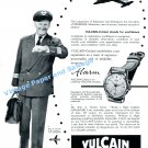 1956 Vulcain Cricket Stands for Confidence Vintage 1950s Swiss Print Ad Advert Suisse
