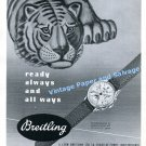 1949 Breitling Ready Always and All Ways Breitling Watch Company Vintage 1940s Swiss Print Ad Advert
