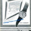 1949 Universal Geneve Tri-Compax Watch Advert Vintage 1940s Swiss Print Ad Publicite Switzerland