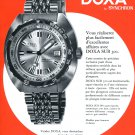 1971 Doxa Watch Company SUB 300 Sea Rambler Advert 1970s Swiss Print Ad Suisse Advert Horology