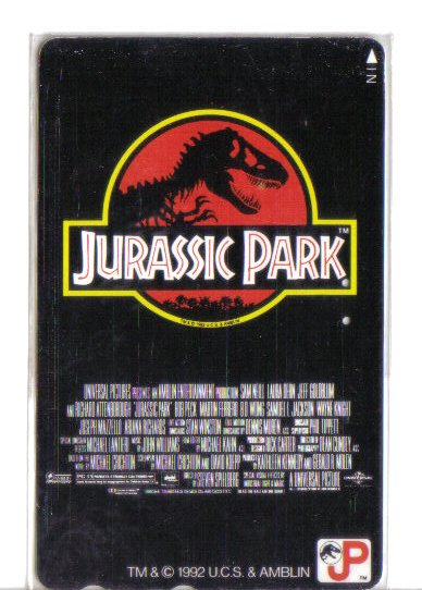Jurassic Park Limited Edition Transport Card