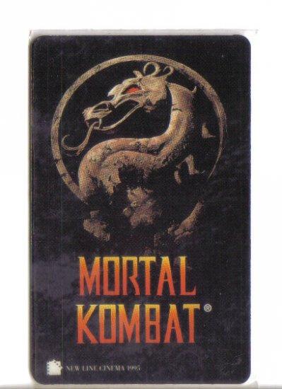 Mortal Kombat Limited Edition Movie Value Card