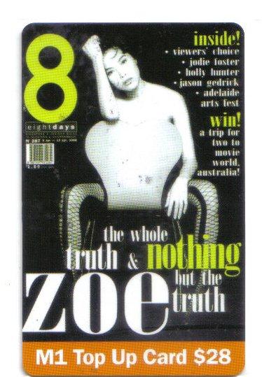 Zoe Tay Top up Card (rare)
