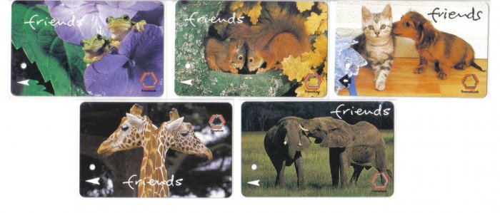 Friends (mint) Phonecard Limited Edition. Set of 5