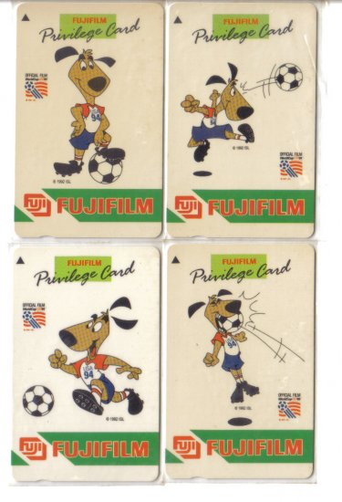 Fuji socccer (mint) Phonecard Limited Edition. Set of 4