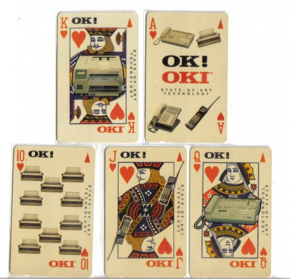 OKI Phonecard (mint) set of 5. Limited Edition