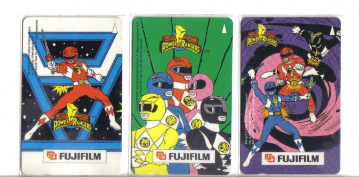 Power Ranger Phonecard (mint) set of 3. Limited Edition