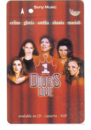 Divas Live - Celine dion, Gloria estafan, mariah careh. (mint) Transport card. Limited Edition