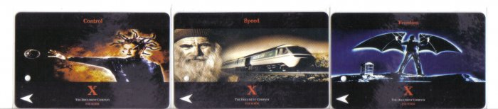 Xerox (mint) Transport card - Limited Edition. Set of 3