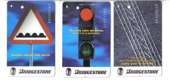 Bridgestone (mint) Transport card - Limited Edition. Set of 3