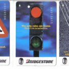 Bridgestone (mint) Transport card - Limited Edition. Set of 3