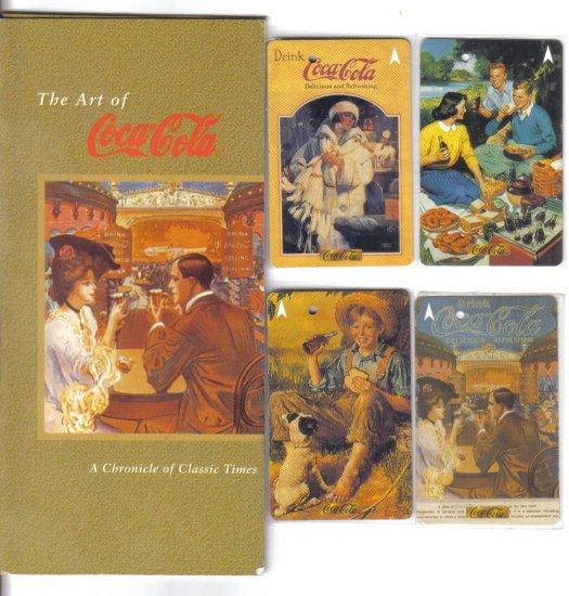 Coke (mint) Transport card - Limited Edition. Set of 4