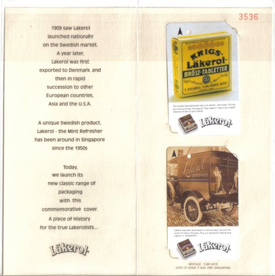 Lackerol (mint) Transport card - Limited Edition. Set of 2