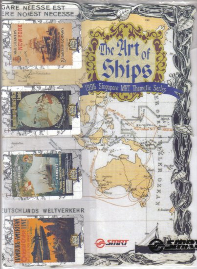 Art of Ship (mint) Transport card- Limited edition. Set of 4