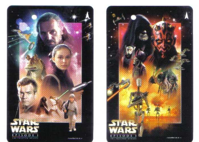Star Wars Episode 1 (mint) Transport Card - Limited Edition Set of 2