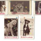 Animals -  Used phonecard set of 5