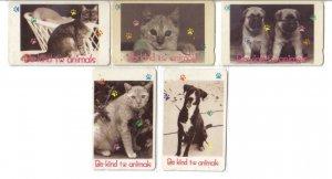 Animals -  Used phonecard set of 5