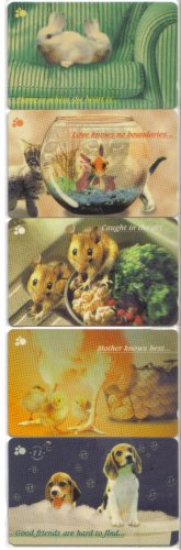 Friend 2 Used phonecard set of 5