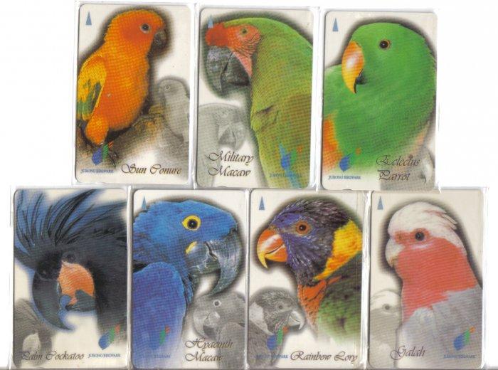 Jurong Bird Park Used phonecard set of 7