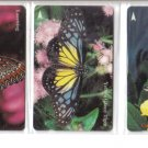 Butterfly Used phonecard set of 5