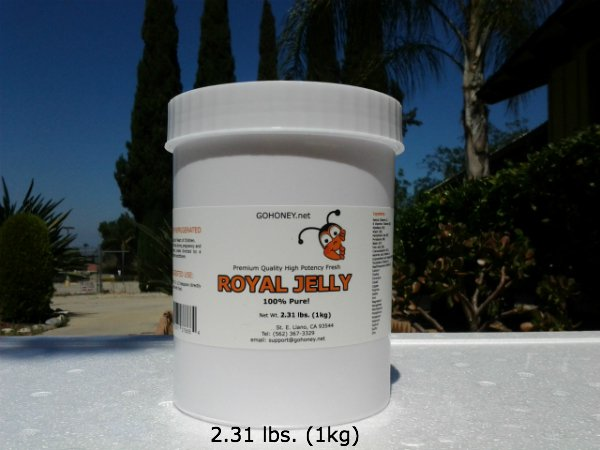 1 kg (2.3lbs) 100% FRESH NATURAL ORGANIC ROYAL JELLY