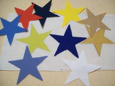 ST006 IRON ON STARS APPLIQUE YOUR CHOICE SOLID COLOR