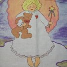 "FS077 QUILT PANELWOF X 35"" ANGEL TEDDY BY LESLIE PASTEL"