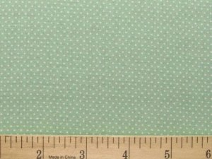 "one yard Pin Dot Polka Dots 45"" 100% Cotton Quilt Fabric Watercress Green free s"