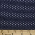 "one yard Pin Dot Polka Dots 45"" 100% Cotton Quilt Fabric Dark Navy Blue free s"