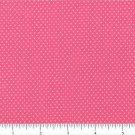 "one yard Pin Dot Polka Dots 45"" 100% Cotton Fabric deep pink Quilt apparel B3"