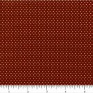 "one yard Pin Dot Polka Dots 45"" 100% Cotton Quilt Fabric Copper Brown free ship"
