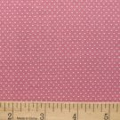 "one yard Pin Dot Polka Dots 45"" 100% Cotton Fabric Dusky pink Quilt apparel B3"