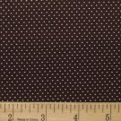 "one yard Pin Dot Polka Dots 45"" 100% Cotton Quilt Fabric Cocoa Brown free ship"