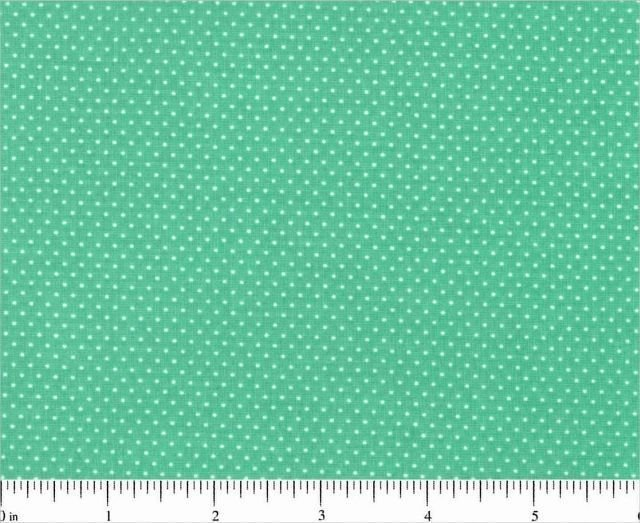 "one yard Pin Dot Polka Dots 45"" 100% Cotton Fabric Southwest Green Quilt"