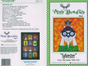 AMY BRADLEY Kitty City Quilt kit  Sylvester fabric fusible embellishments