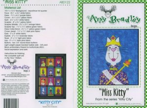 AMY BRADLEY Kitty City Quilt kit MISS KITTY fabric fusible embellishments