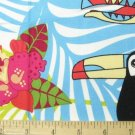 Jungle Fever Luella Doss Parrot Tropical Print Free Spirit Fabric ONE YARD