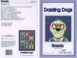 AMY BRADLEY DAZZLING DOGS QUILT BLOCK GARCIA LATINO DOG ONE PATTERN ONLY