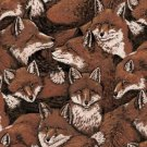 Fox Love Tossed Allover Fox Realistic Marshall Dry Goods 100% COTTON By the Yard