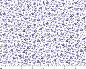 """QUILT BACKING Calico Purple on White 108"""" WIDE COTTON NEW ON BOLT BY THE YARD"""