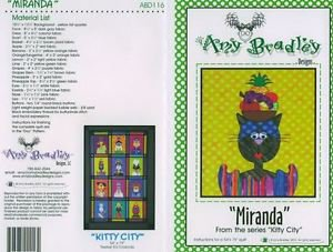 AMY BRADLEY Kitty City MIRANDA Quilt Block Pattern only Applique